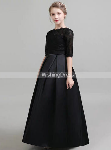 products/black-formal-kids-party-dresses-fall-satin-junior-bridesmaid-dress-with-sleeves-jb00065.jpg
