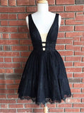 Black Homecoming Dresses,Lace Homecoming Dress,Sexy Homecoming Dress,HC00035