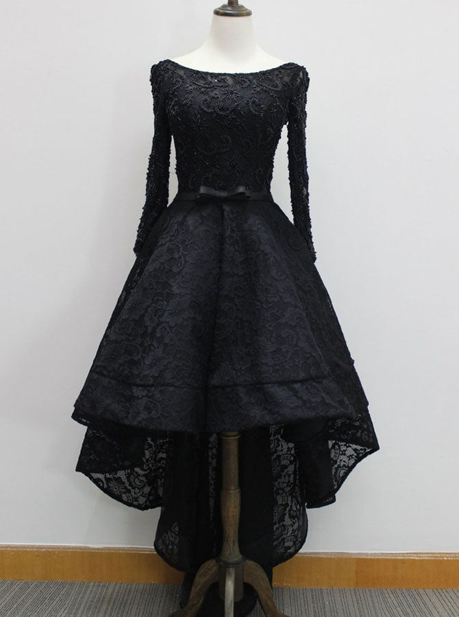 831f5b46683 Black Prom Dresses with Sleeves