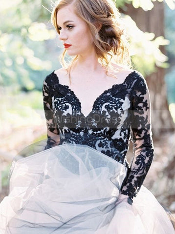 products/black-wedding-gown-ball-gown-wedding-dresses-wedding-dress-with-sleeves-tulle-bridal-gown-wd00072.jpg