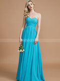 Blue Bridesmaid Dresses,Sweetheart Bridesmaid Dress,Long Bridesmaid Dress,BD00254
