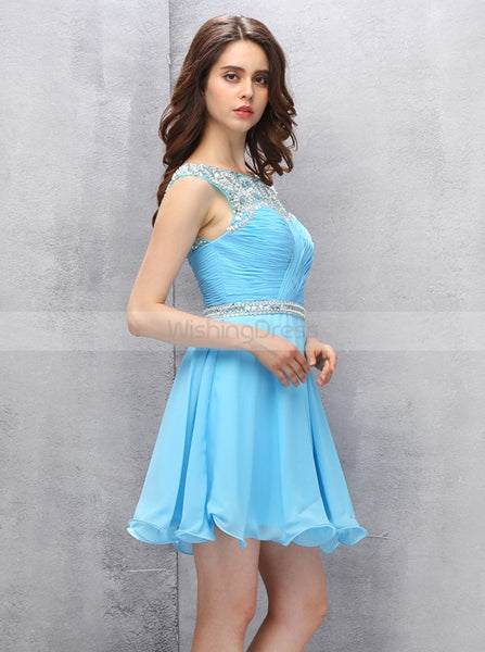 Blue Homecoming Dresses,Short Homecoming Dress,Freshman Homecoming Dress,HC00067