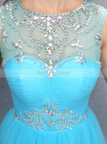 Blue Sweet 16 Dresses,Homecoming Dress for Teens,Tulle Sweet 16 Dress,SW00024