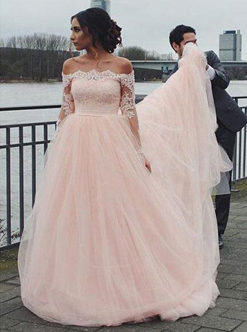 products/blush-wedding-dresses-off-the-shoulder-wedding-dress-wedding-dress-with-sleeves-wd00133.jpg