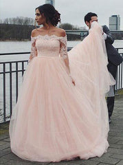 Blush Wedding Dress.Blush Wedding Dresses Off The Shoulder Wedding Dress Wedding Dress With Sleeves Wd00133