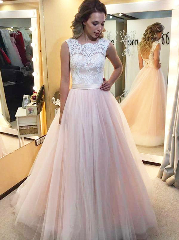 Blush Wedding Dress.Blush Wedding Dresses Tulle Bridal Dress Elegant Wedding Dress Aline Bridal Gown Wd00068