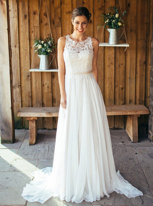 Boho Wedding Dresses Beach Wedding Dress Chiffon Bridal