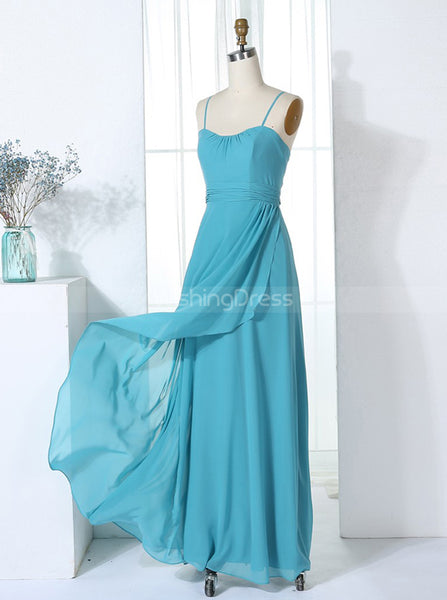 Bridesmaid Dresses with Straps,Chiffon Bridesmaid Dress,Full Length Bridesmaid Dress,BD00307