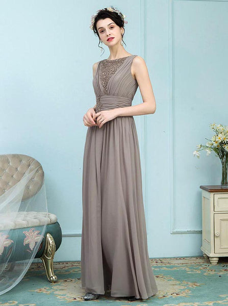 Brown Mother of the Bride Dresses,Long Mother Dress,Modern Mother of the Bride Dress,MD00014