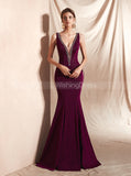 Burgundy Fitted Prom Dresses,Gorgeous Evening Dress,PD00409