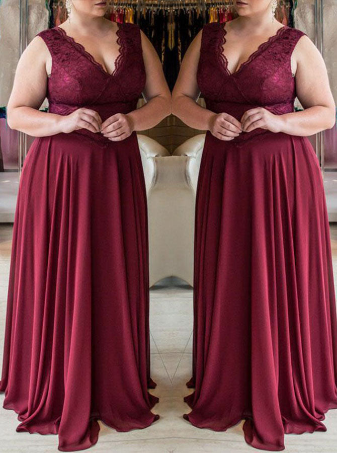 Burgundy Plus Size Prom Dresses,Elegant Plus Size Prom Dress,Long Plus Size  Under 200,PD00249