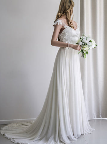products/chiffon-wedding-dresses-beach-wedding-dress-off-shoulder-bridal-dress-floral-bridal-dress-wd00106-3.jpg