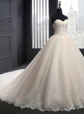 Classic Wedding Dresses,Ball Gown Wedding Dress,Strapless Wedding Gown,WD00064