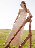 Colored Wedding Dresses,Lace Wedding Dress,Sheath Bridal Dress,Rustic Wedding Dress,WD00241