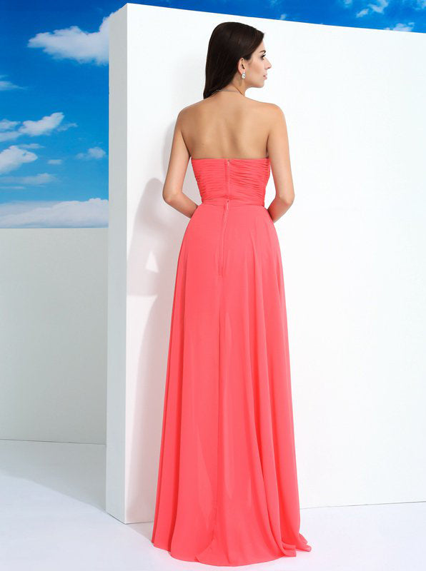 986e6e2c6 Coral Prom Dresses,Sweetheart Prom Dress,Prom Dress with Slit,Long Homecoming  Dress