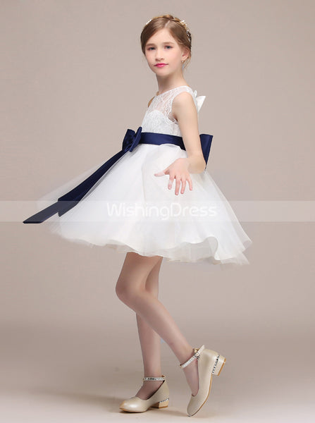 Cute Flower Girl Dress,Short Junior Bridesmaid Dress,JB00040