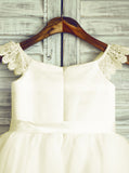 Cute Flower Girl Dresses,Knee Length Flower Girl Dress,Summer Flower Girl Dress,FD00008