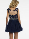 Dark Navy Homecoming Dresses,Short Homecoming Dress,Homecoming Dress for Teens,HC00013