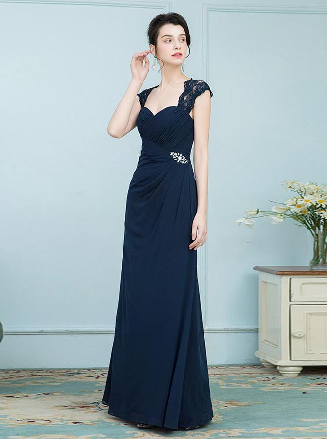 Dark Navy Mother Of The Bride Dresses Elegant Mother Dress