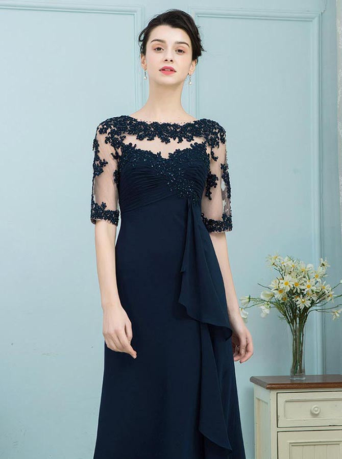 f035846a6026 Dark Navy Mother of the Bride Dresses