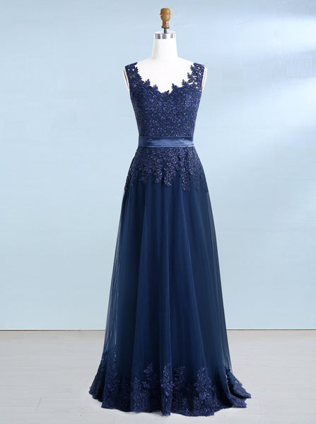 Dark Navy Prom Dresses,Elegant Prom Dress,Mother of the Bride Dresses,Wedding Guest Dress,PD00208