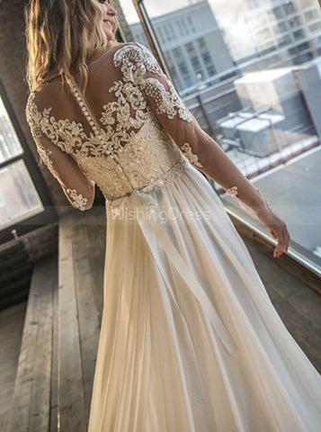 products/destination-wedding-dress-with-slit-long-sleeve-wedding-dress-wd00404.jpg