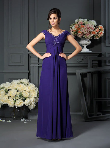 Empire Mother of the Bride Dresses,Floor Length Mother Dress,MD00066
