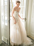 Fairytale Tulle Wedding Dresses,Strapless Bridal Dress,WD00332