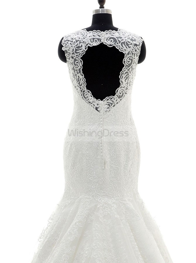 Fit and Flare Wedding Dresses,Plus Size Wedding Gown,Lace ...