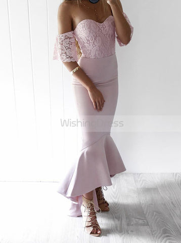 products/fitted-bridesmaid-dress-high-low-bridesmaid-dress-homecoming-dress-with-lace-sleeves-bd00143-2.jpg