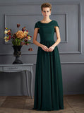 Forest Green Mother of The Bride Dress with Wrap,Chiffon Long Mother of the Bride Dress,MD00056