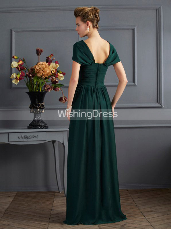 3752d33e0a Forest Green Mother of The Bride Dress with Wrap