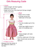 Red Flower Girl Dresses with Belt,Tea Length Flower Girl Dress,FD00025
