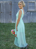 High Low Bridesmaid Dresses,Modern Bridesmaid Dress,Summer Bridesmaid Dress,BD00214