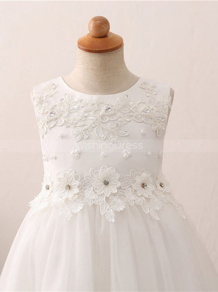 High Low Flower Girl Dresses,Girl Party Dress,Princess Flower Girl Dress,FD00048