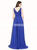 High Low Prom Dresses,Royal Blue Homecoming Dresses,Chiffon Wedding Party Dresses,PD00239