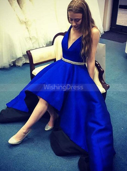 High Low Prom Dresses,Satin Prom Dress for Teens,Modest Prom Dress,PD00366