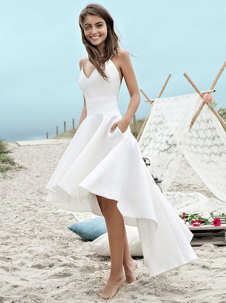 High Low Wedding Dresses,Beach Wedding Dresses,Informal Wedding Dresses,WD00120