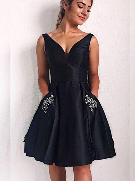 Black Cocktail Dresses,Sexy Homecoming Dress,Fashion Cocktail Dress,CD00065