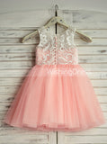 Knee Length Flower Girl Dresses,Tulle Flower Girl Dress,FD00016