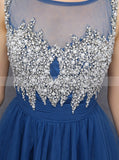 Knee Length Homecoming Dresses,Blue Sweet 16 Dress,Aline Sweet 16 Dress,SW00025