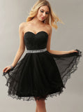 Black Homecoming Dresses,Tulle Homecoming Dress,Short Homecoming Dress,HC00044