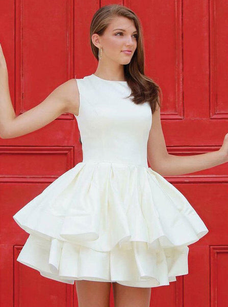 Layered Homecoming Dress,Short Prom Dress,Modest Homecoming Dress,HC00200