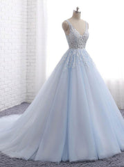 Light Blue Bridal Dress Princess Wedding Dresses Classic Bridal Dress Wishingdress