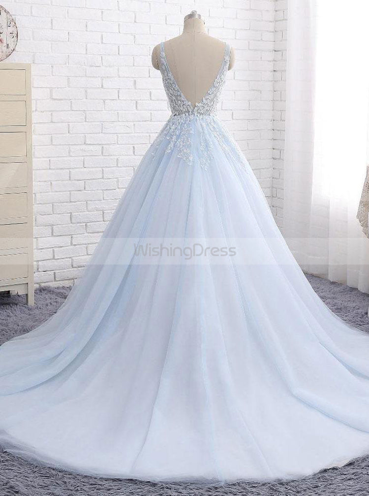 Light Blue Bridal Dress Princess Wedding Dresses Classic