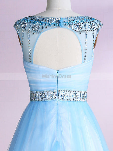 Light Blue Sweet 16 Dresses,Knee Length Sweet 16 Dress,Princess Sweet Sixteen Dress,SW00007