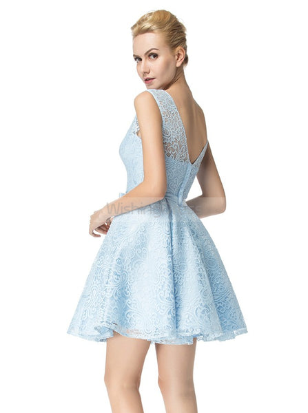 Light Blue Sweet 16 Dresses,Lace Homecoming Dresses,Short Mini Sweet 16 Dress,SW00005
