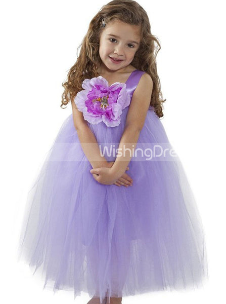 Light Purple Flower Girl Dress Tutu,Diy Flower Girl Dress,Cute Baby Flower Girl Dress,FD00037