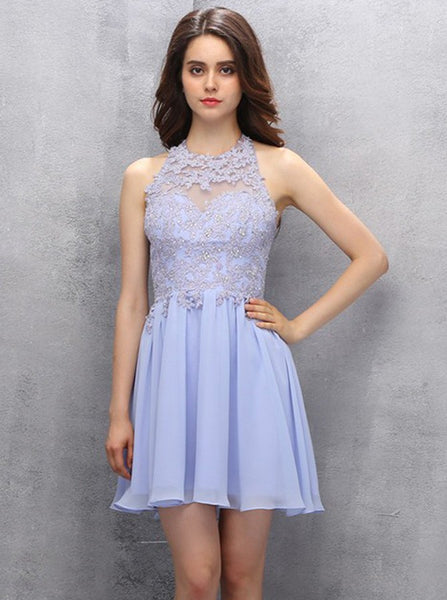 Lilac Homecoming Dresses,Short Homecoming Dress,Homecoming Dress for Teens,HC00060