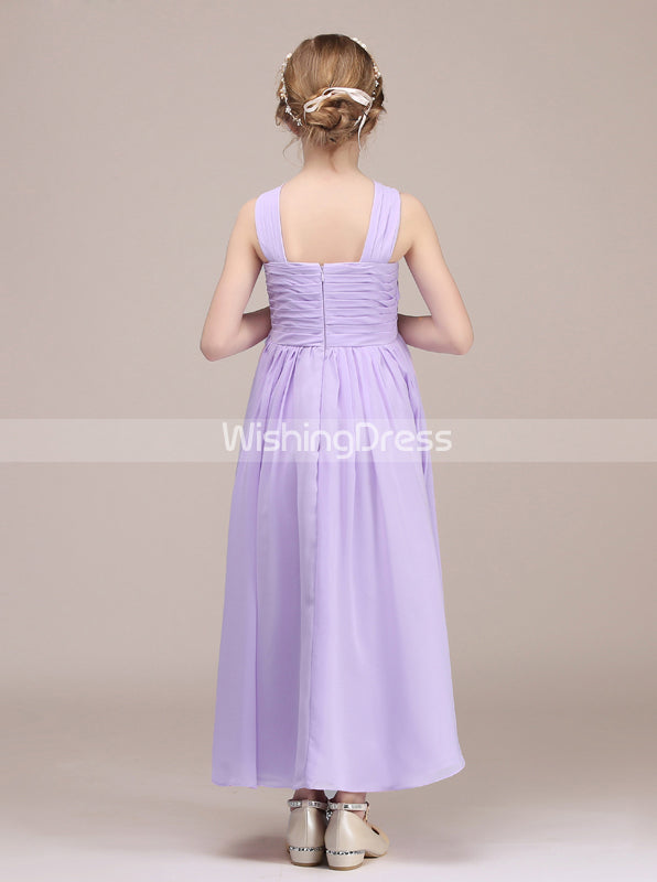 940509b5b Lilac Junior Bridesmaid Dress,Long Junior Bridesmaid Dress,JB00042 ...